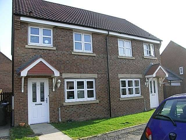 2 Bedrooms Semi Detached House for sale in Ladyburn Way, Hadston, Morpeth, Northumberland, NE65 9RJ