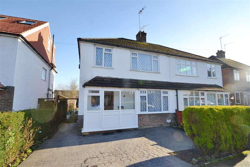 3 Bedrooms Semi Detached House for sale in The Crossways, Merstham, Surrey, RH1 3NA