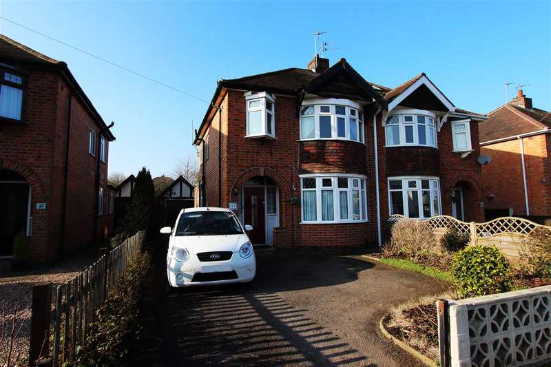 3 Bedrooms Semi Detached House for sale in Glen Park Avenue, Glenfield, Leicester