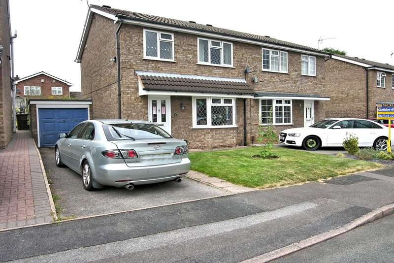 3 Bedrooms Semi Detached House for sale in LEMA WAY, KINGSTON HILL, STAFFORD ST16