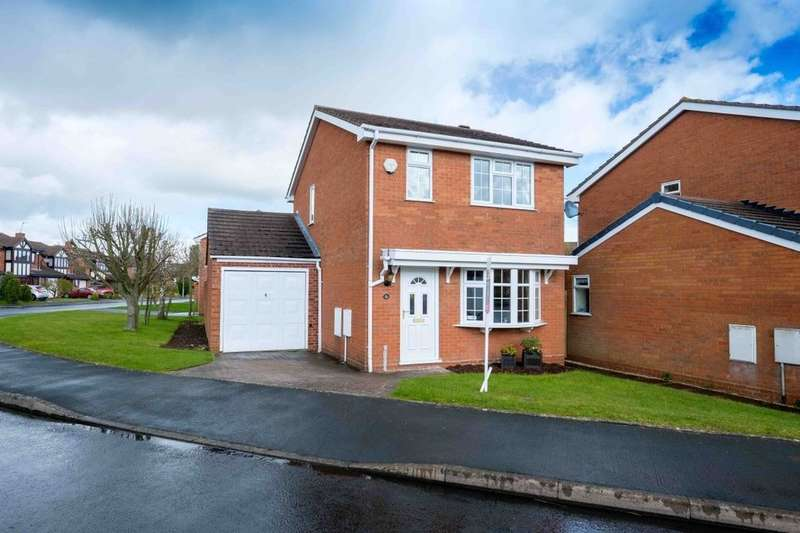 3 Bedrooms Detached House for sale in Leasowe Drive, Perton, Wolverhampton, WV6
