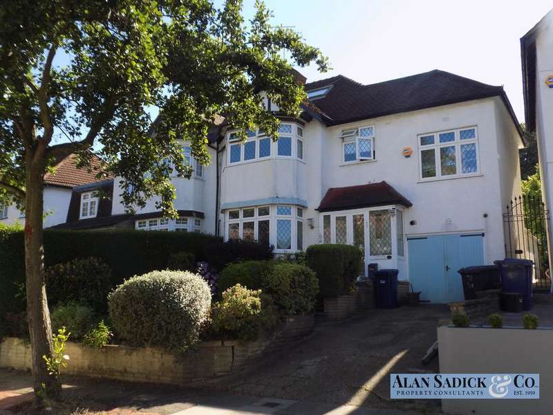 5 Bedrooms Semi Detached House for sale in Broughton Avenue, Finchley, London N3