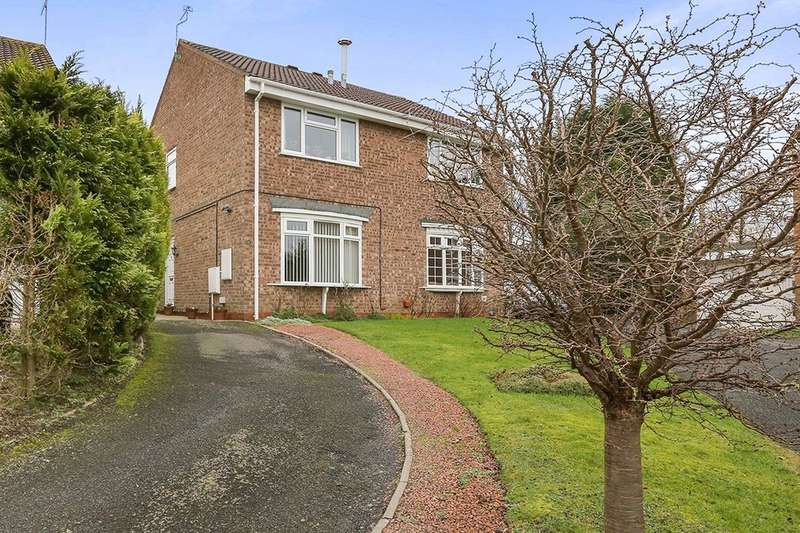 2 Bedrooms Semi Detached House for sale in Shackleton Drive, Perton, Wolverhampton, WV6