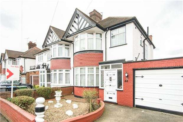 3 Bedrooms Semi Detached House for sale in Valley Drive, KINGSBURY, NW9 9NR