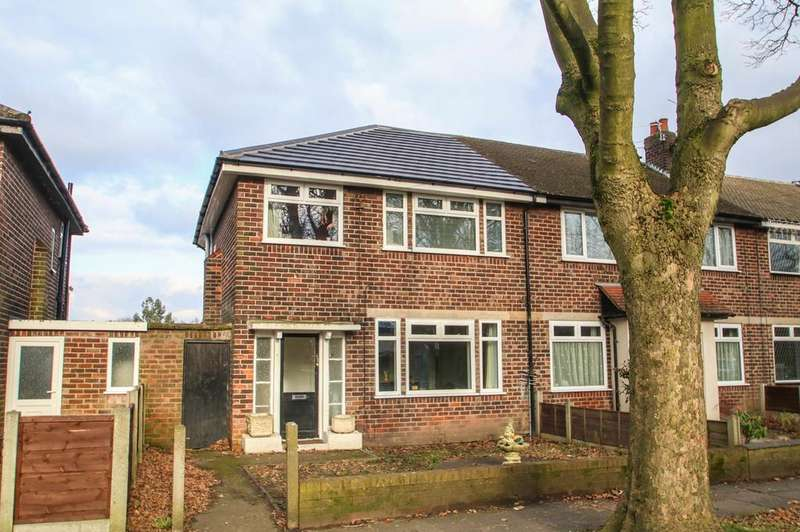 3 Bedrooms End Of Terrace House for sale in Woodbridge Road, Flixton, Manchester, M41