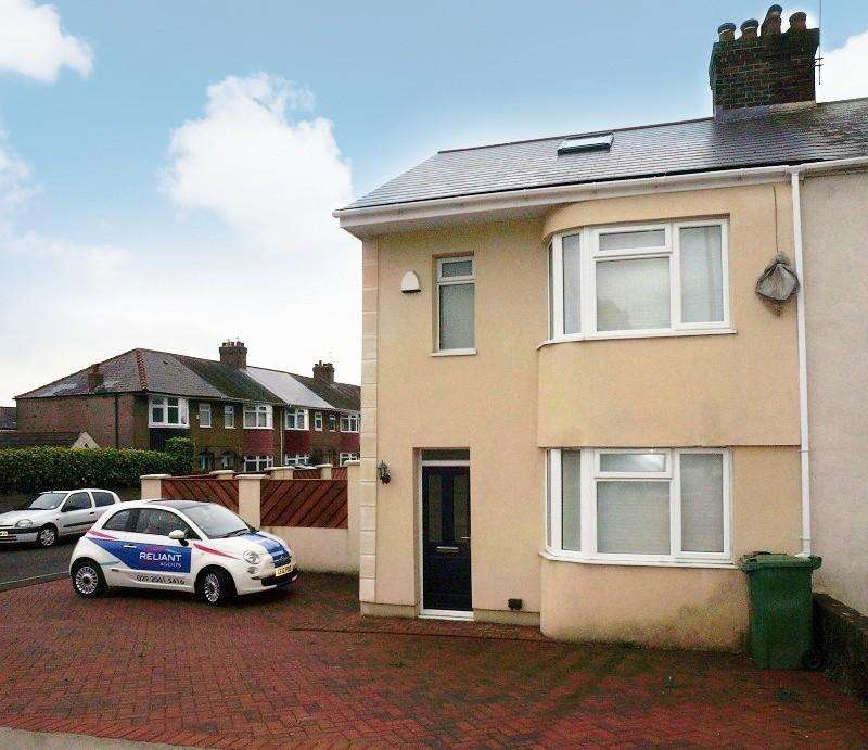 4 Bedrooms Semi Detached House for sale in Ty Wern Road, Rhiwbina, Cardiff. CF14 4SF