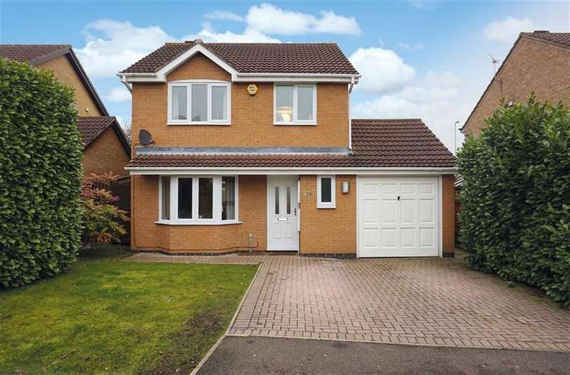 3 Bedrooms Detached House for sale in Marriott Drive, Kibworth, Kibworth Harcourt Leicester, Leicestershire