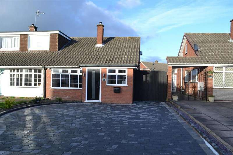 2 Bedrooms Semi Detached Bungalow for sale in Poplar Road, Great Wyrley, Walsall