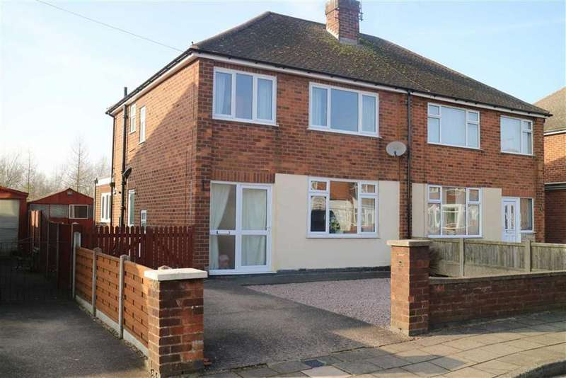 3 Bedrooms Semi Detached House for sale in Nursery Avenue, Sutton In Ashfield, Notts, NG17
