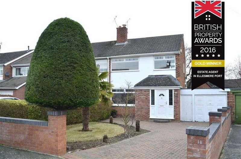 3 Bedrooms Semi Detached House for sale in Hillfield Road, Little Sutton, Ellesmere Port