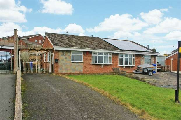 2 Bedrooms Semi Detached Bungalow for sale in Westmorland Close, Stoke-on-Trent, Staffordshire