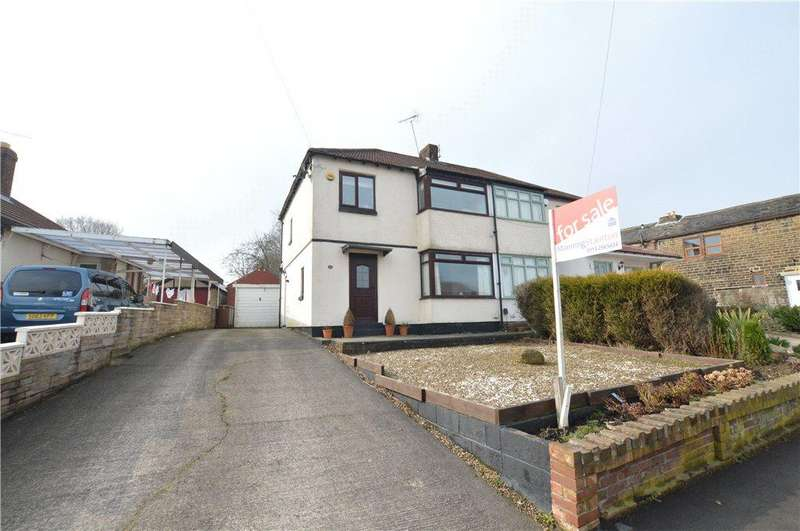3 Bedrooms Semi Detached House for sale in Foxholes Lane, Calverley, Pudsey, West Yorkshire