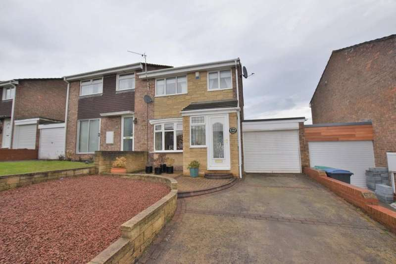 3 Bedrooms Semi Detached House for sale in Bradbury Close, Tanfield Lea, Stanley