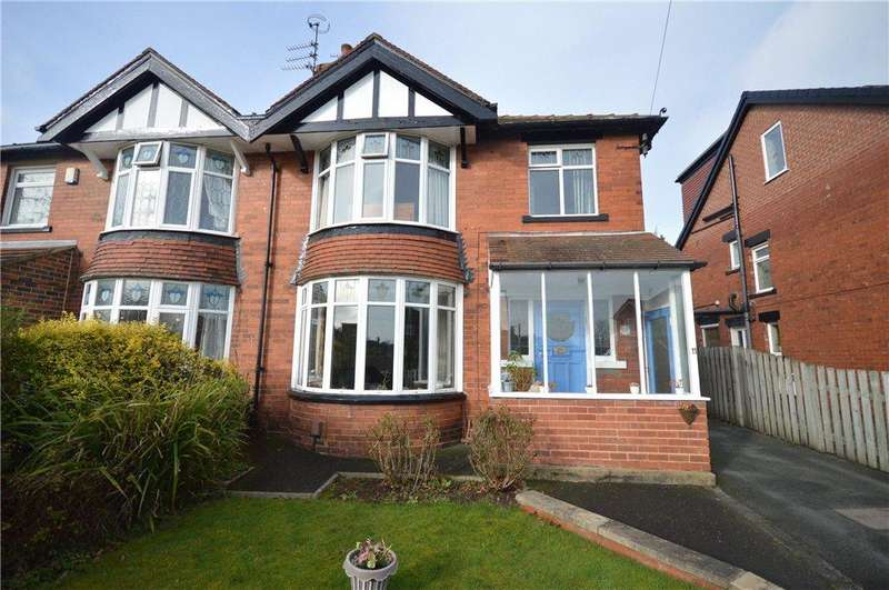 3 Bedrooms Semi Detached House for sale in Sandhill Drive, Alwoodley, Leeds