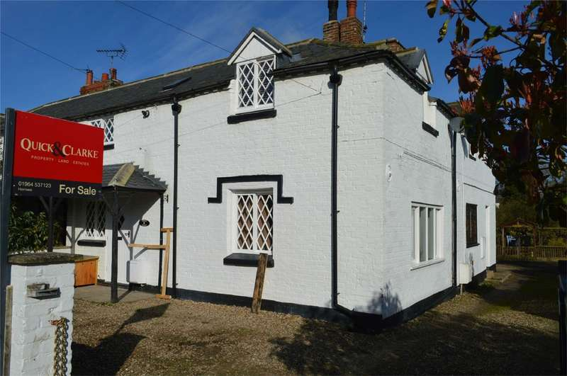 2 Bedrooms Semi Detached House for sale in Thwaite Cottage, Old Lane, Sigglesthorne, East Riding of Yorkshire
