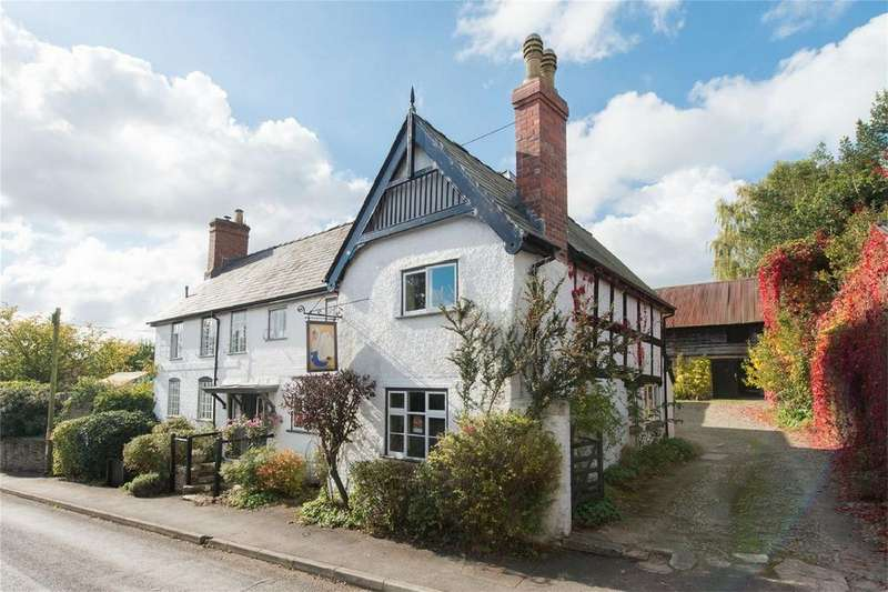 4 Bedrooms Detached House for sale in THE SWAN, WATLING STREET, LEINTWARDINE, SHROPSHIRE