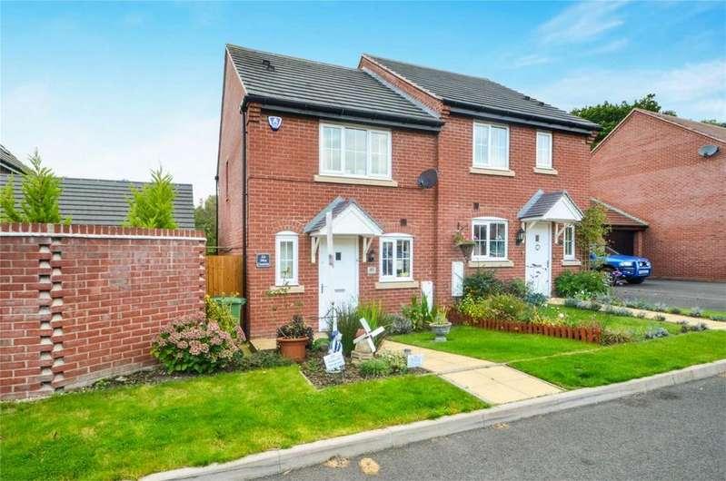 2 Bedrooms Semi Detached House for sale in Betjeman Way, Cleobury Mortimer, Kidderminster, Shropshire