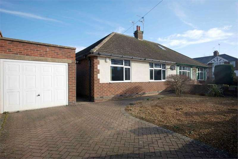 2 Bedrooms Semi Detached Bungalow for sale in Naseby Road, Southfields, RUGBY, Warwickshire
