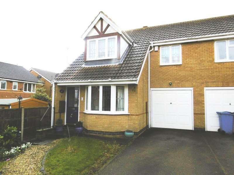 3 Bedrooms Semi Detached House for sale in Sterling Close, Worksop