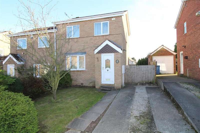 3 Bedrooms Semi Detached House for sale in Gateford Glade, Worksop