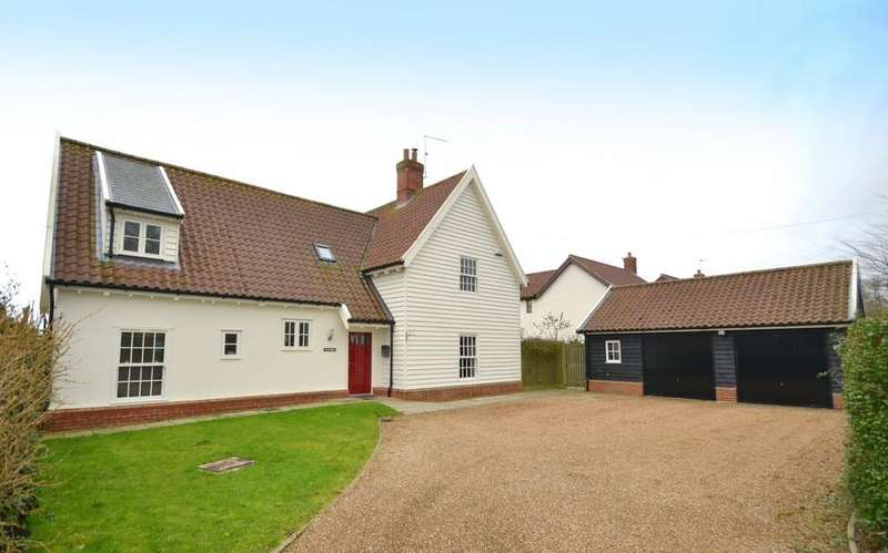 4 Bedrooms Detached House for sale in Debenham Road, Crowfield, Ipswich, Suffolk