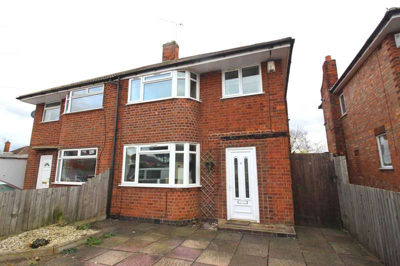 3 Bedrooms Semi Detached House for sale in Shottery Avenue, Braunstone Town
