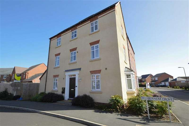 4 Bedrooms Semi Detached House for sale in Laburnum Grove, Spring Gardens, Shrewsbury