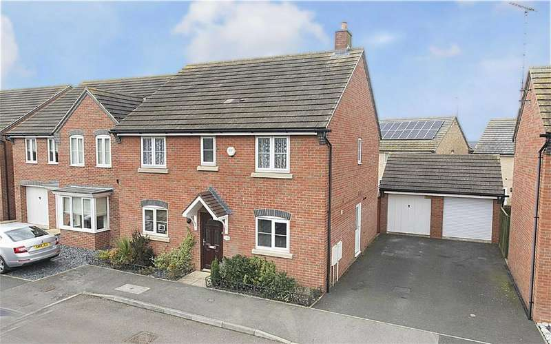 4 Bedrooms Detached House for sale in Jackdaw Road, Corby, Northamptonshire