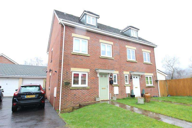 4 Bedrooms Semi Detached House for sale in Sword Hill, Caerphilly