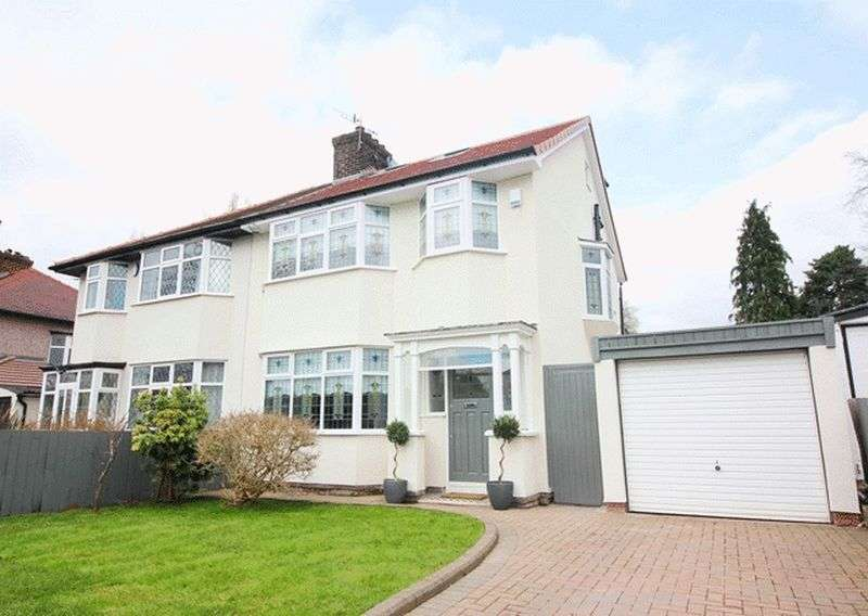 4 Bedrooms Semi Detached House for sale in Menlove Avenue, Woolton, Liverpool, L25