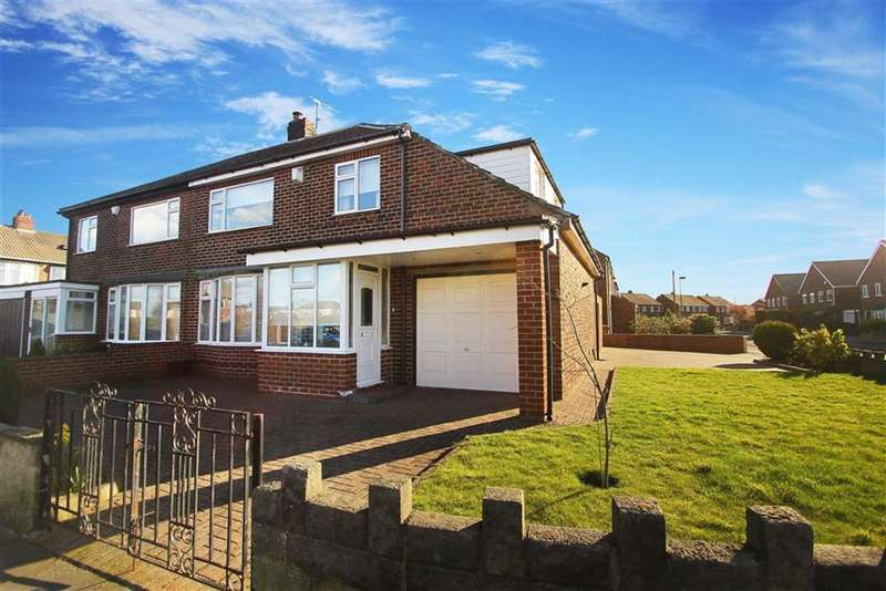 4 Bedrooms Semi Detached House for sale in Wilton Drive, Whitley Bay, Tyne And Wear