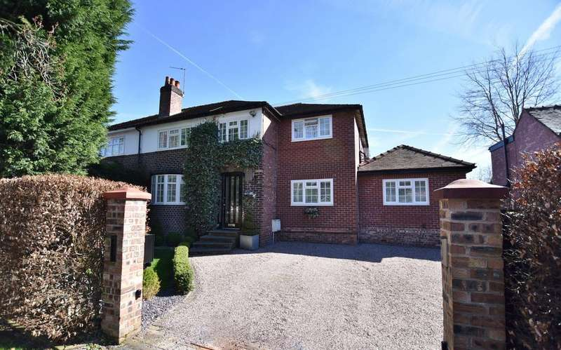 4 Bedrooms Semi Detached House for sale in Chapel Lane, Hale Barns