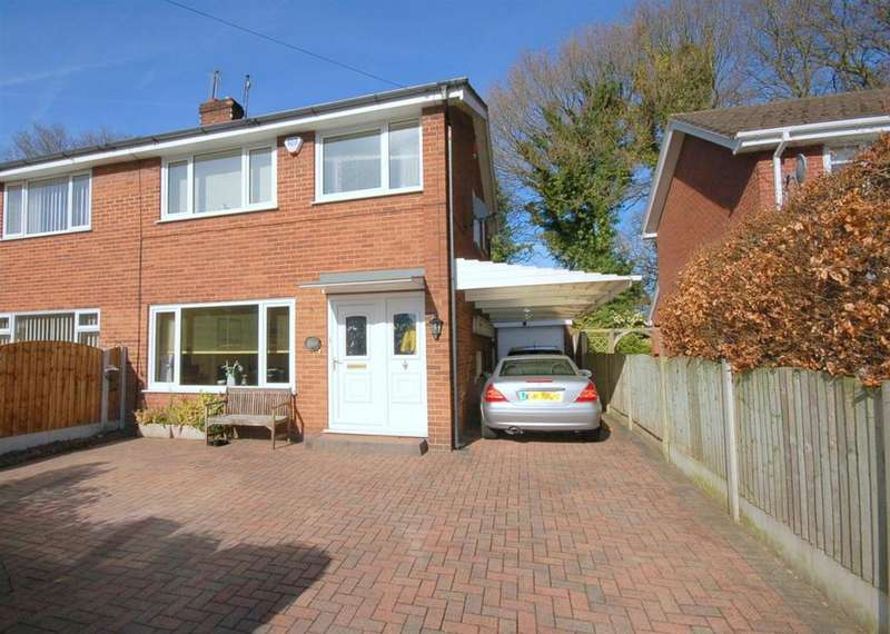 3 Bedrooms Semi Detached House for sale in Beech Avenue, Rode Heath