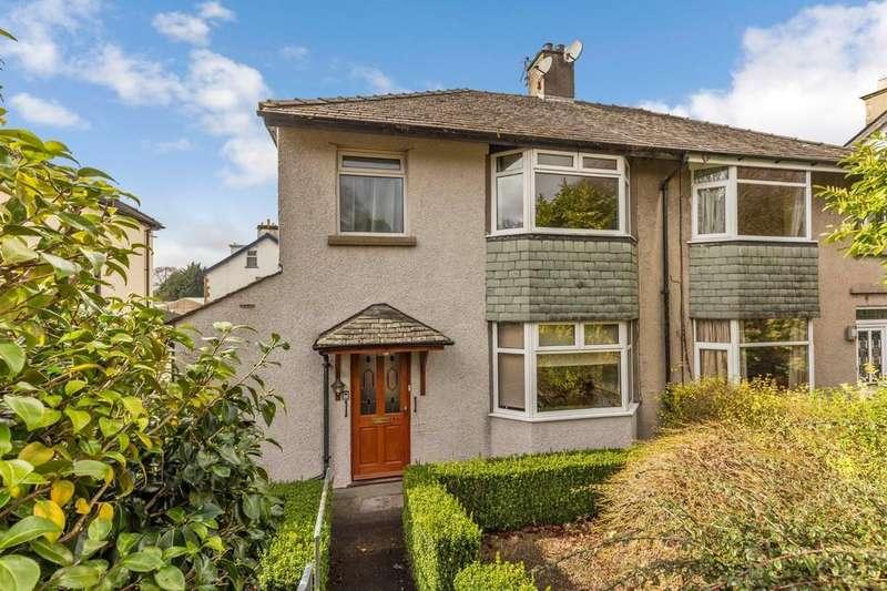 3 Bedrooms Semi Detached House for sale in 16 Ellerthwaite Road, Windermere, Cumbria, LA23 2AH