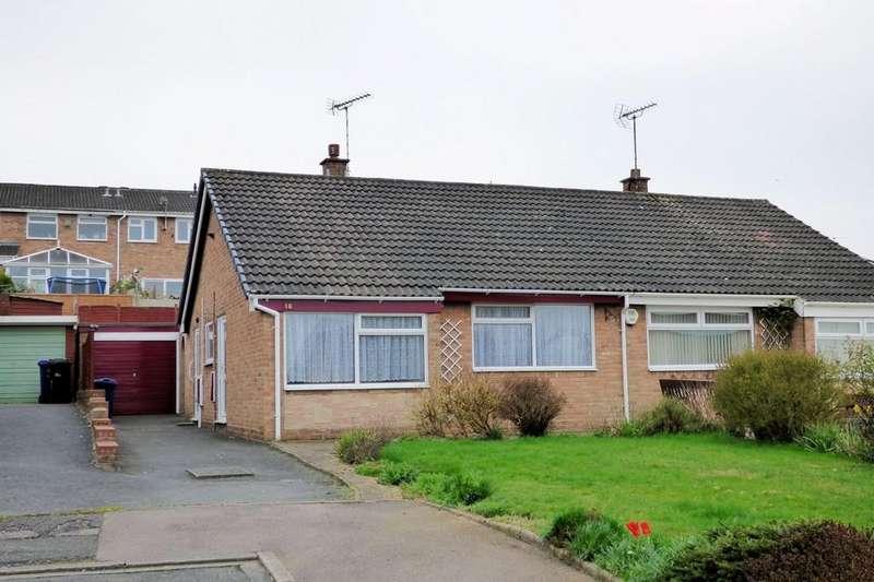 2 Bedrooms Semi Detached Bungalow for sale in Hawks Drive, Burton-on-Trent