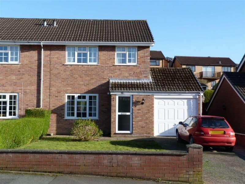 3 Bedrooms Semi Detached House for sale in Sycamore Drive, Barnfields, Newtown
