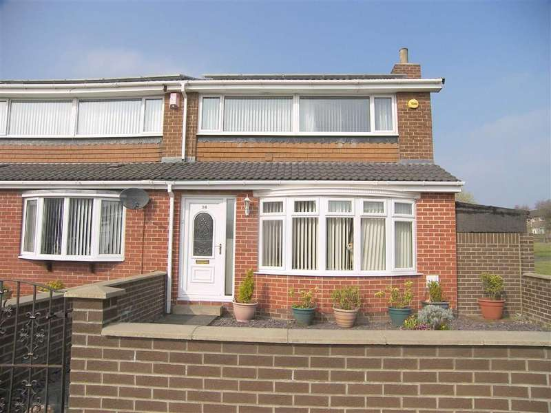 3 Bedrooms End Of Terrace House for sale in Burnet Close, Battle Hill, Wallsend, NE28