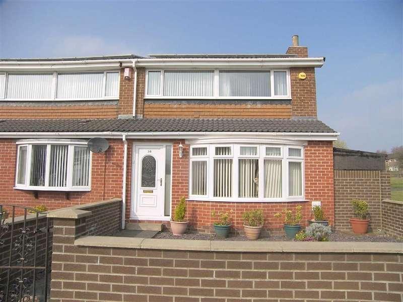 3 Bedrooms End Of Terrace House for sale in Burnet Close, Battle Hill, Wallsend, NE28