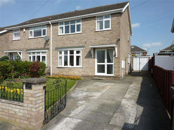 3 Bedrooms Semi Detached House for sale in GEDNEY CLOSE, WYBERS WOOD, GRIMSBY