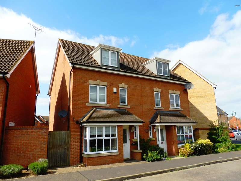 4 Bedrooms Semi Detached House for sale in Tinus Avenue, Hampton Vale, Peterborough, PE7