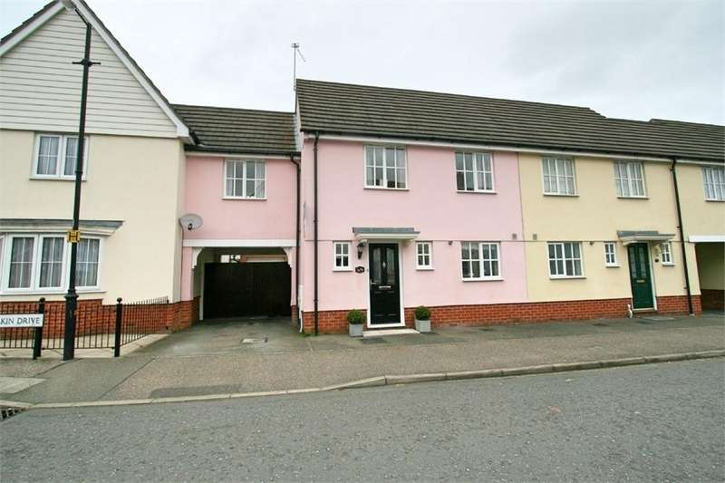 3 Bedrooms Terraced House for sale in Wilkin Drive, Tiptree, Colchester, Essex