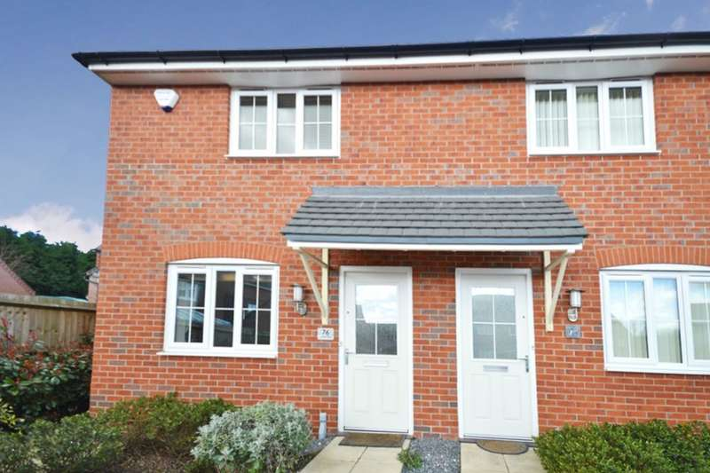 2 Bedrooms Semi Detached House for sale in Suffolk Way, Church Gresley, Swadlincote, DE11