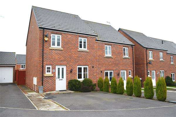 3 Bedrooms Semi Detached House for sale in Reedmace Walk, Newcastle, Newcastle-under-Lyme