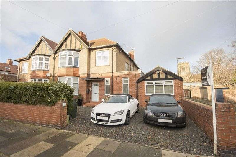 6 Bedrooms Semi Detached House for sale in Hawthorn Road West, Gosforth
