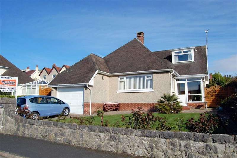2 Bedrooms Detached Bungalow for sale in Aber Drive, Craigside, Llandudno, Conwy