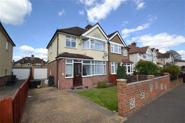 3 Bedrooms Semi Detached House for sale in Iverna Gardens, Bedfont