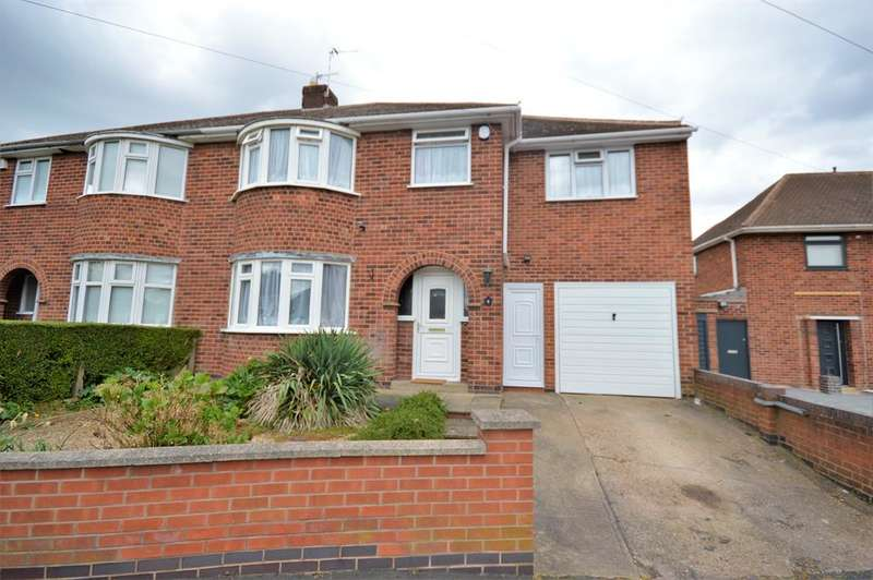 4 Bedrooms Semi Detached House for sale in Highfield Crescent, Wigston, LE18 1NL