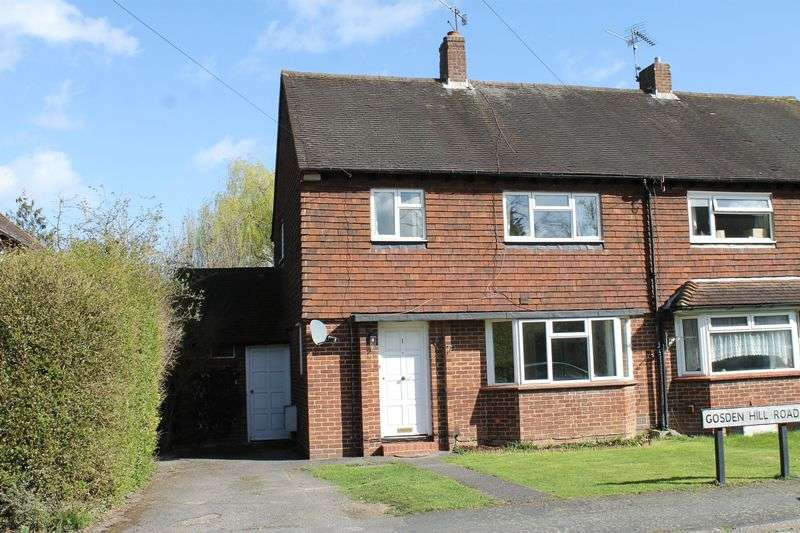 3 Bedrooms Semi Detached House for sale in Gosden Hill Road, Guildford