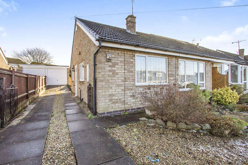 2 Bedrooms Semi Detached Bungalow for sale in Gwendoline Drive, Countesthorpe, Leicester, LE8