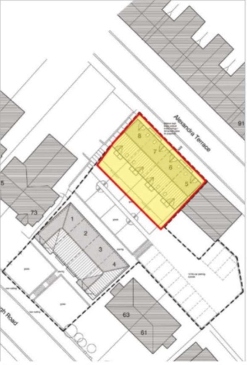 Land Commercial for sale in LAND with Planning for four 3 bed Town houses Alexandra Terrace of Yarborough Road, Lincoln, LN1